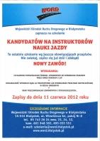 WORD Białystok zaprasza kandydatów na instruktorów