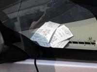 Bilet za szybą samochodu?