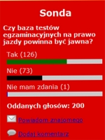 65% odpowiedzi: tak testy powinny być jawne
