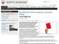 Komentują: czerwona kartka dla resortu transportu