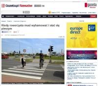 Rowerzysta na przejściu dla pieszych