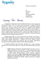 List do ministra Boniego