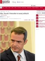 """Minister Nowak mówi """"Gazecie Wyborczej"""""""