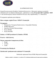 Zebranie informacyjno-szkoleniowe w Warszawie