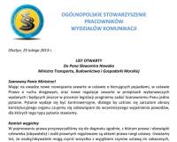 Wydziały komunikacji piszą o niepokojących zjawiskach w pracy ministerstwa