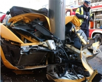 Rowerzysta i lamborghini, wypadek miał miejsce na chodniku