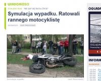 Symulacja wypadku motocyklisty: Nie gap się! Ratuj życie!