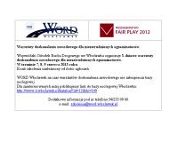 3-dniowe warsztaty doskonalenia dla niezatrudnionych egzaminatorów