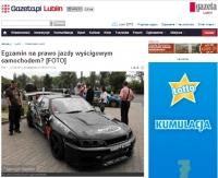 W Lublinie na placu manewrowym też pojazdy wyścigowe