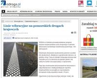 Norweskie oznakowanie poziome - linie wibracyjne - na naszych drogach