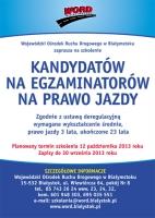 Zaproszenie dla kandydatów na egzaminatorów