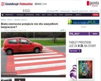 Czy biało-czerwone przejście jest bezpieczne?
