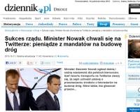 Minister Nowak na Twitterze