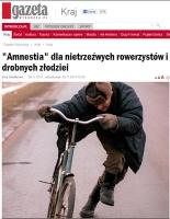 Jazda po pijanemu na rowerze już nie przestępstwem a wykroczeniem