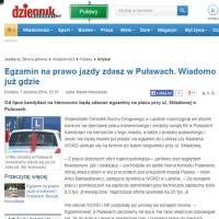 Egzamin na prawo jazdy także w Puławach