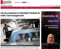 """""""Gazeta Wyborcza"""" radzi jak walczyć z taxi-naciągaczami"""