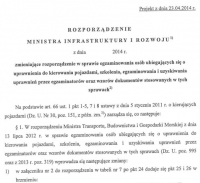 Projekt rozporządzenia ws. egzaminowania i ecodriving wg CIECI