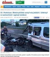 Śmierć podczas lekcji nauki jazdy motocyklem. Komentarz