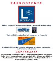Zaproszenie dla instruktorów nauki jazdy. Poznań 14-15 czerwca 2014 r.