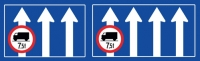 Zakaz jazdy na 3. i 4. pasie ruchu