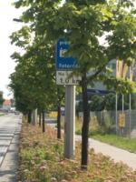 """""""Zarośnięty"""" znak drogowy"""