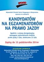WORD Białystok zaprasza kandydatów na egzaminatorów