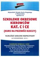 Szkolenie okresowe kierowców kat. C i CE (WORD Białystok)