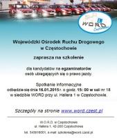 WORD Częstochowa: Zaproszenie dla kandydatów na egzaminatorów