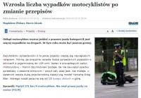 A jednak, wzrosła liczba wypadków motocyklistów