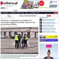 W Poznaniu chcą przechodzić na czerwonym