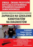 Zaproszenie na szkolenie kandydatów na diagnostów