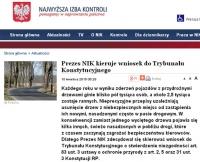 NIK: wniosek do TK ws. usuwania drzew z pasa drogowego