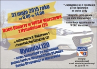 Dzień Otwarty w WORD Warszawa z Huyndaiem i20 (31.5.2015)