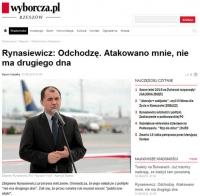 Minister Rynasiewicz odchodzi