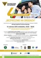 """Zaproszenie na piknik """"Bezpiecznie na drogach"""" (14.6.2015)"""