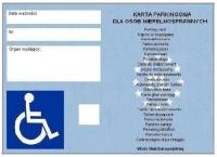 Już obowiązuje nowa karta parkingowa dla niepełnosprawnych