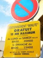 "Parkowanie ""na minutkę"" (stationnement ""minute"")"