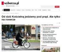 """Legalna jazda ulicą jednokierunkową """"pod prąd"""""""