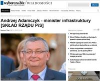 Andrzej Adamczyk ministrem infrastruktury i budownictwa