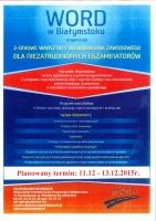 Zaproszenie na warsztaty dla niezatrudnionych egzaminatorów