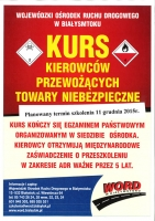 Kurs dla kierowców przewożących towary niebezpieczne