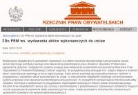 Ws. opóźnień w przygotowywaniu i wydawaniu aktów wykonawczych