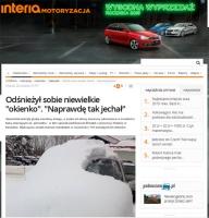 Oszronione szyby i samochód pokryty śniegiem - czym grozi taka jazda?