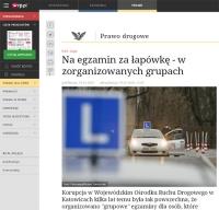 """O korupcji i egzaminie w """"zorganizowanych grupach"""""""