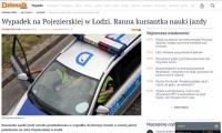 Łódź: Wypadek w trakcie szkolenia. Kursantka trafiła do szpitala