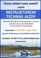 Chcesz być instruktorem techniki jazdy? PORD Gdańsk czeka