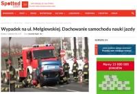 """Lublin: Kolejny wypadek """"elki"""", instruktor i kursantka poszkodowani"""