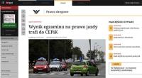 W CEPiK-u będą zbierali wyniki egzaminów na prawo jazdy