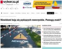 Znaki drogowe na ścieżce rowerowej. Czy będą skuteczne...