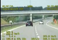 Autostradą 250 km/godz. = 500 zł mandat i 10 punktów